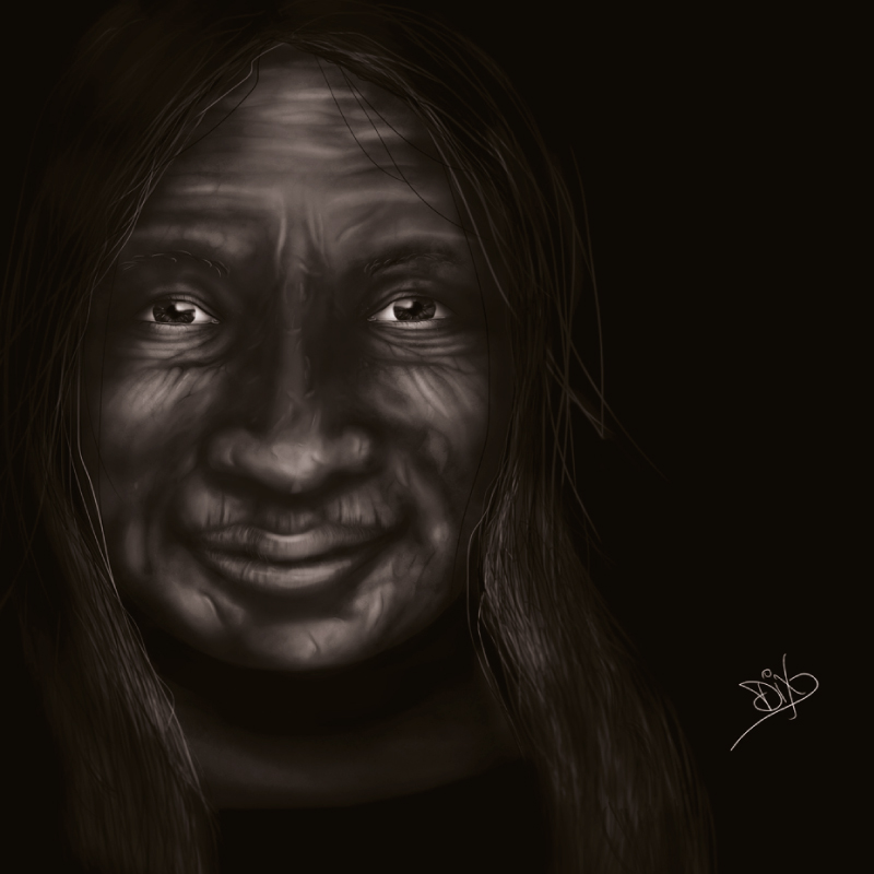Digital Painting Old Woman,diana petrarca, digital painting, donna, ritratto, photoshop