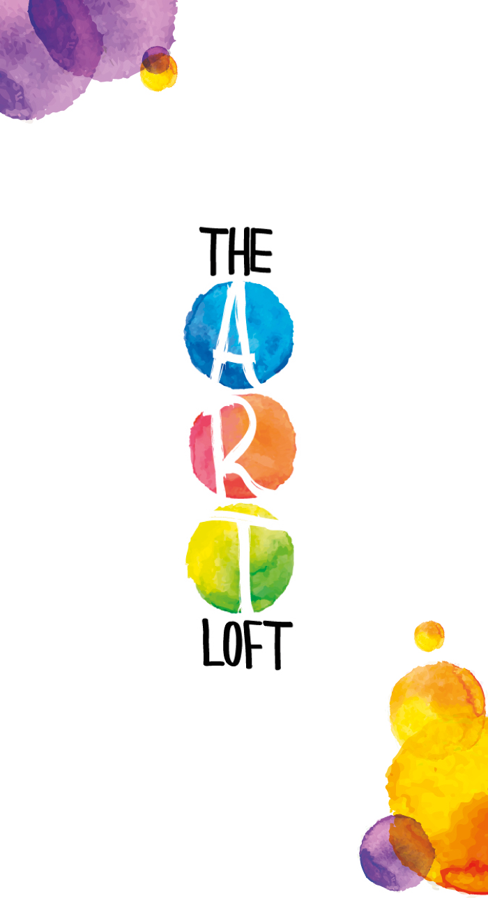 The Art Loft Logo, diana petrarca, arte, pittura, studio, watercolor, colori, graphic design, grafica