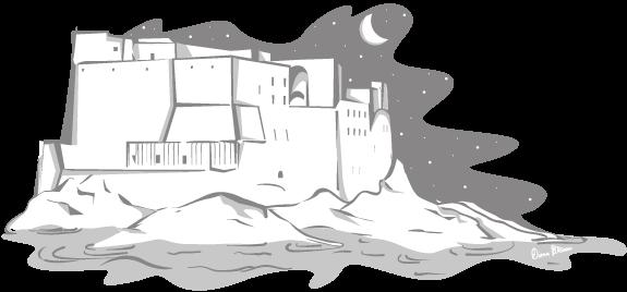 Diana Petrarca - Graphic Designer & Illustrator, grafica, illustrazione, il mago virgilio, magia, home, diana, petrarca, napoli, castello, luna