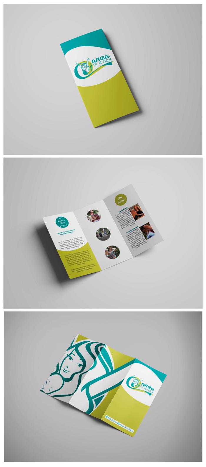 Danza Fit in fascia - Brochure, danza fit in fascia, danza, ballo, bambini, mamme, fascia, diana petrarca, graphic design, brochure, impaginazione, work