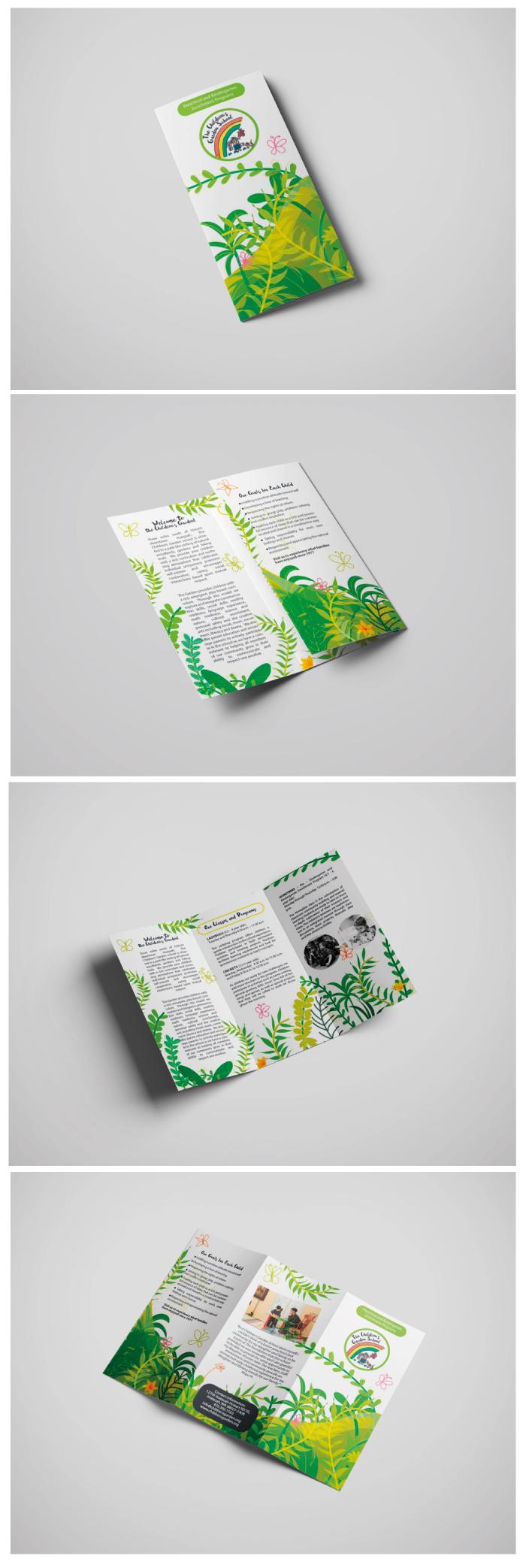 The Children's Garden Brochure, Diana Petrarca, Graphic Design, gardem, bambini, impaginazione, illustrazione, programma, scuola