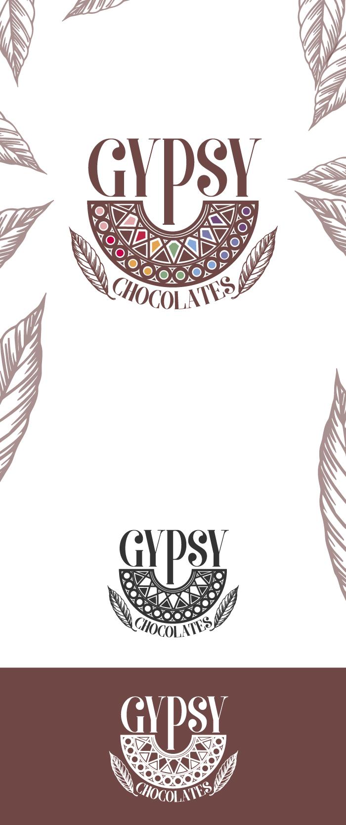 gipsy chocolates, logo, graphic design, diana petrarca, cioccolateria, grafica, progettazione