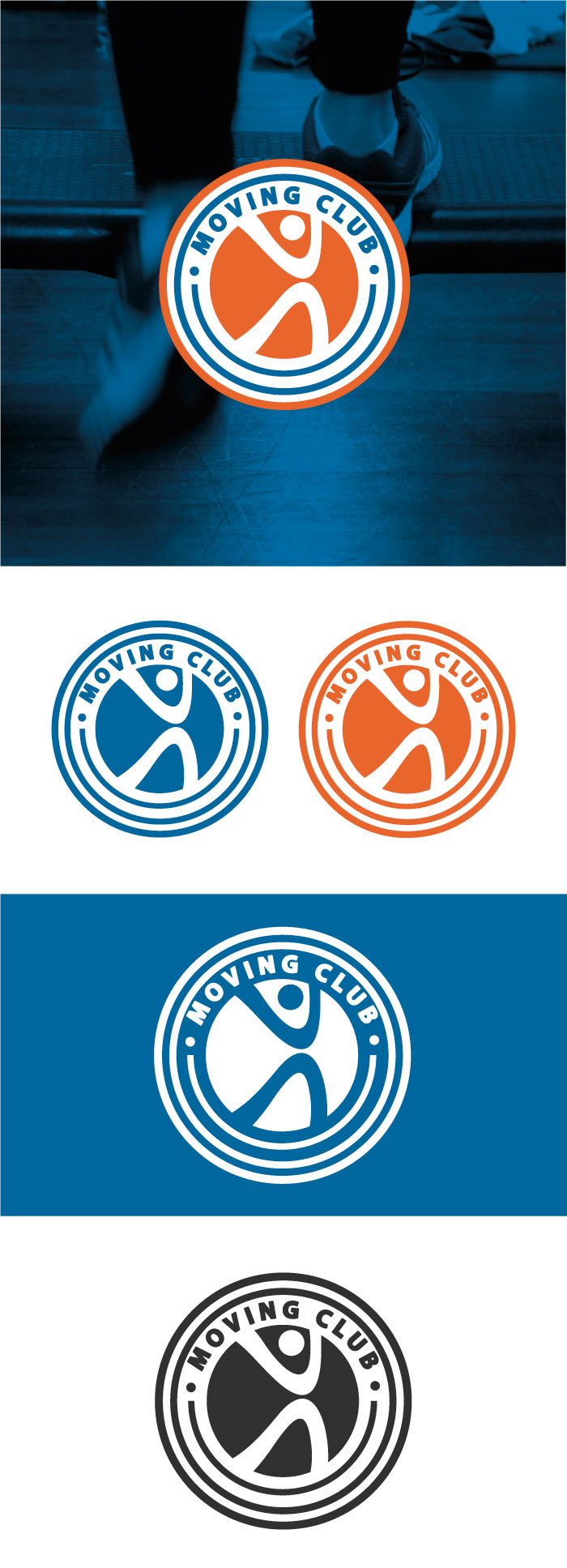 Moving Club - Logo, napoli, palestra, logo, moving, sport, grsphic design, diana petrarca