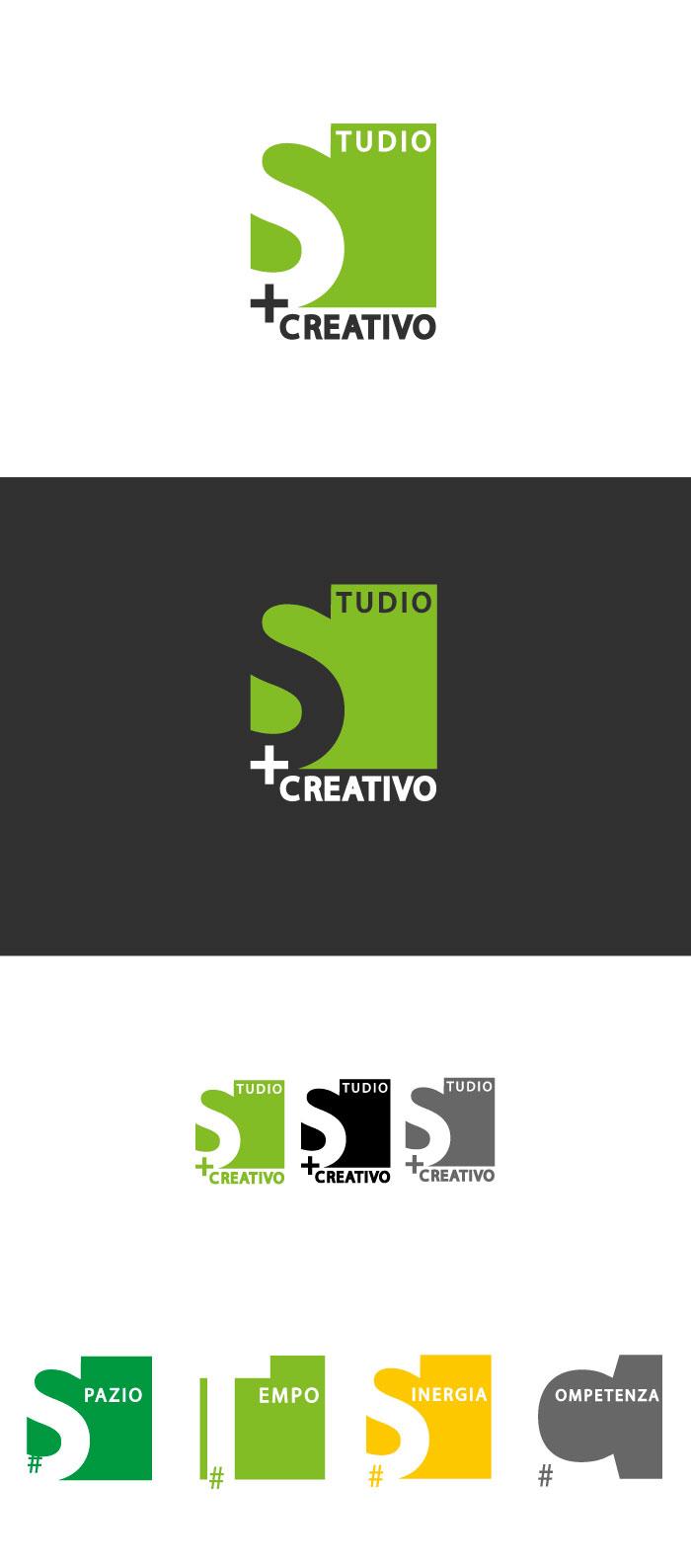 Studio + Creativo - Logo, studio, creativo, architettura, napoli, colori, quadrato, competenza, sinergia, spazio, tempo, diana petrarca, graphic design, grafica, logo, creatività