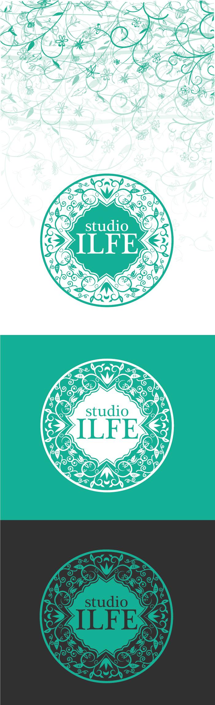 studio, ginecologia, ILFE, diana petrarca, graphic design, logo, grafica, verde acqua, fiori, donna, ragazza, madre