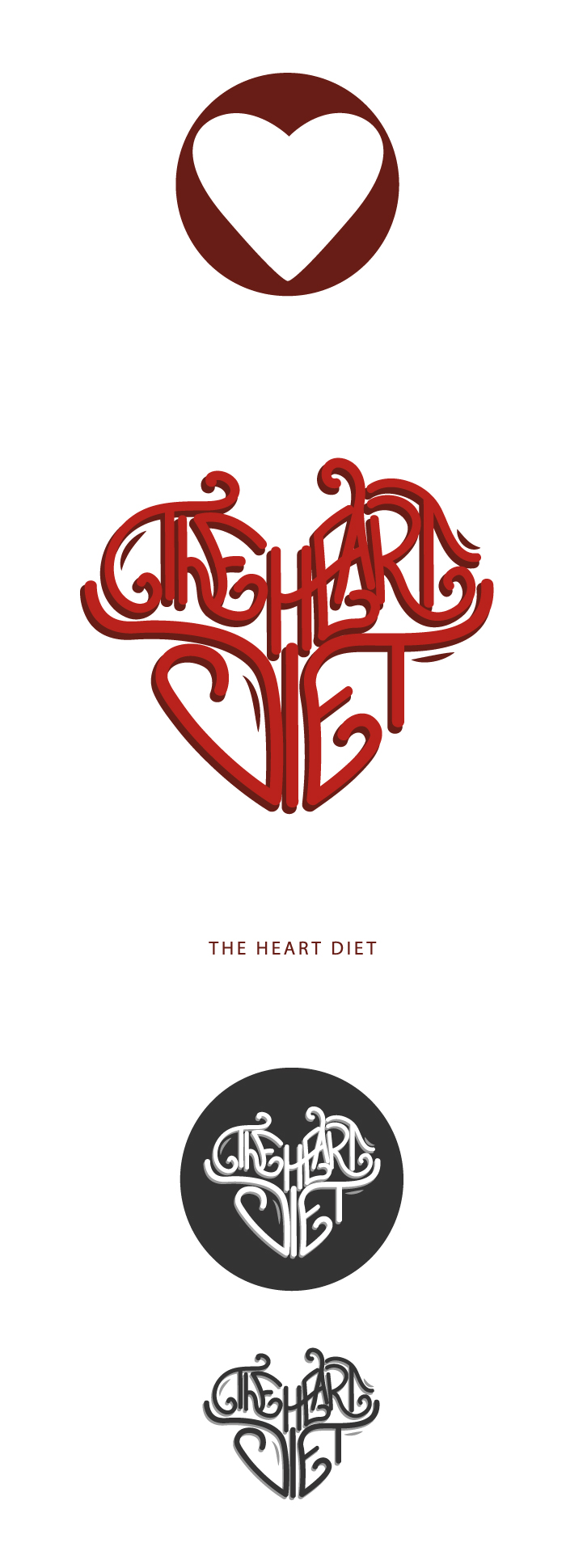 heart diet, heart, diet, logo, graphic design, graphic, diana petrarca, grafica