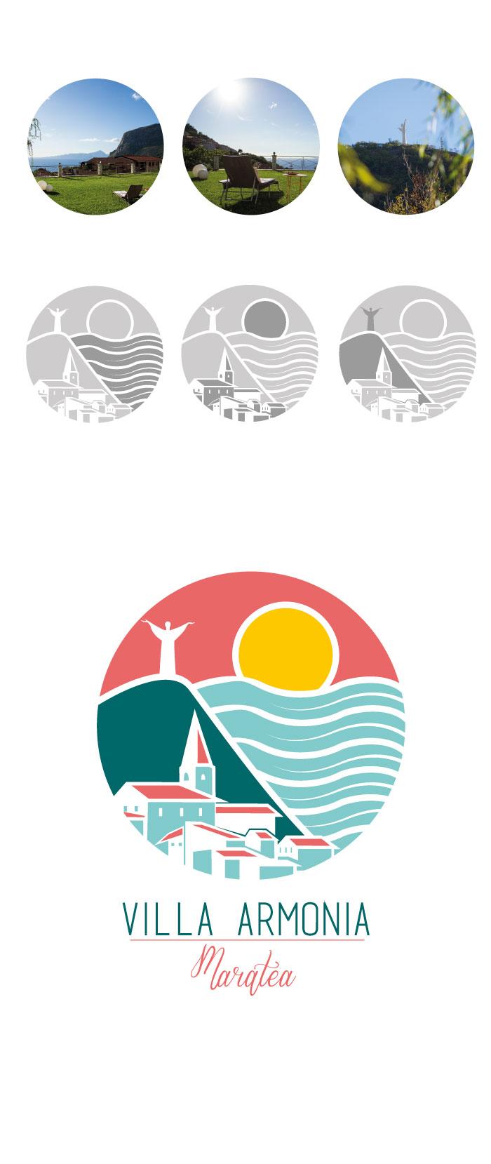 villa armonia, maratea, bed and breackfast, logo, graphic Design, diana petrarca