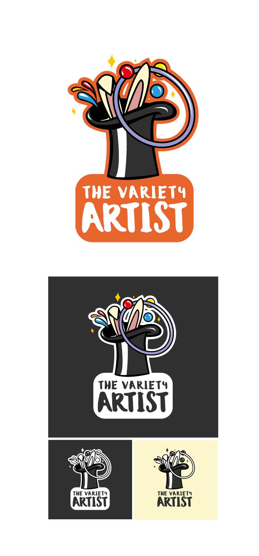 The Variety Artist logo, design, graphic, diana petrarca, graphic design, clown, mago, circo, artisti, strada, palline