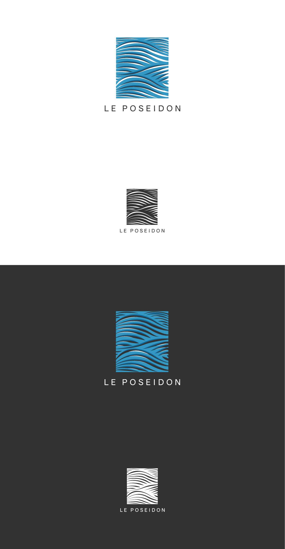 le poseidon, diana Petrarca logo, graphic design, illustration, grafica, Napoli, appartaments, graphic designer, illustratori, disegni, arte, azzurro, mare, wave, Sea onde