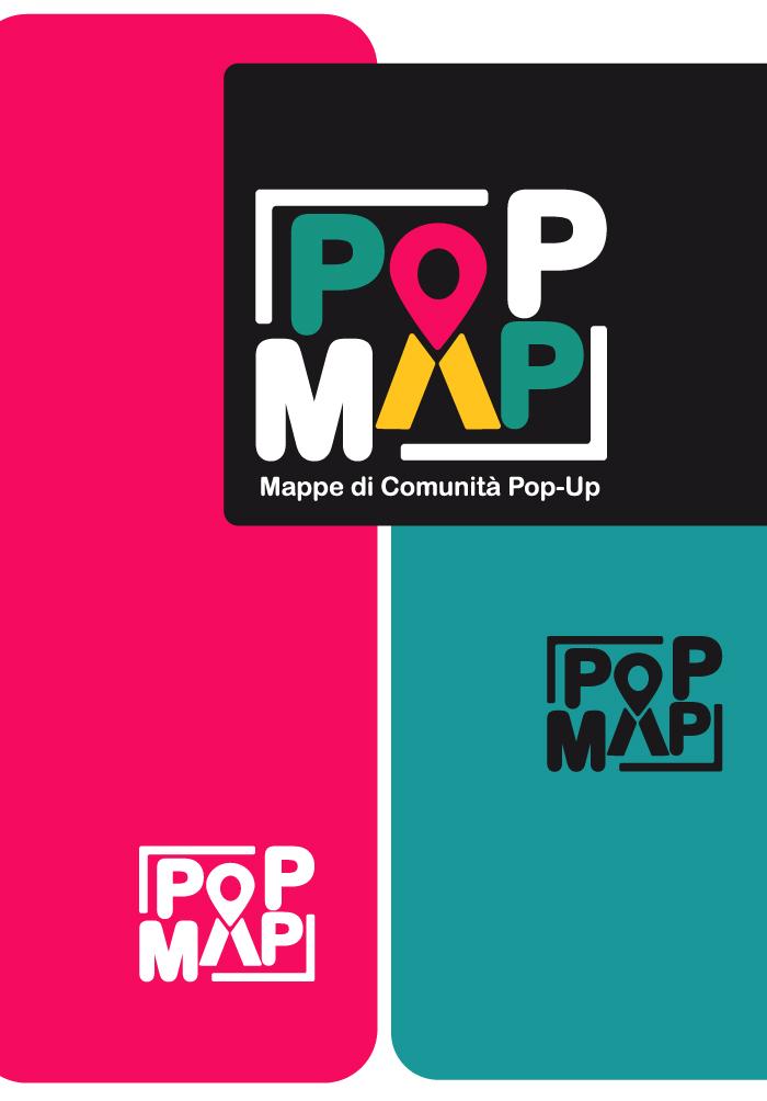 Pop Map, logo, Diana Petrarca, graphic design